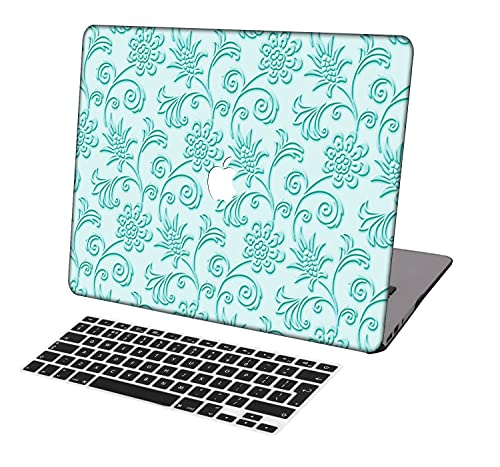 Laptop Case for MacBook Pro 13 inch Retina Model A1425/A1502,Neo-wows(2 in 1 Bundle) Plastic Ultra Slim Light Hard Shell Cover UK Keyboard Cover Compatible MacBook Pro 13 inch,Mint Green A 20