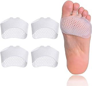 2 pares de almohadillas metatarsianas para pies de bola de gel suave, mortons Neuroma Callus Metatarsal Alivio del dolor de pies, juanetes para el antepié