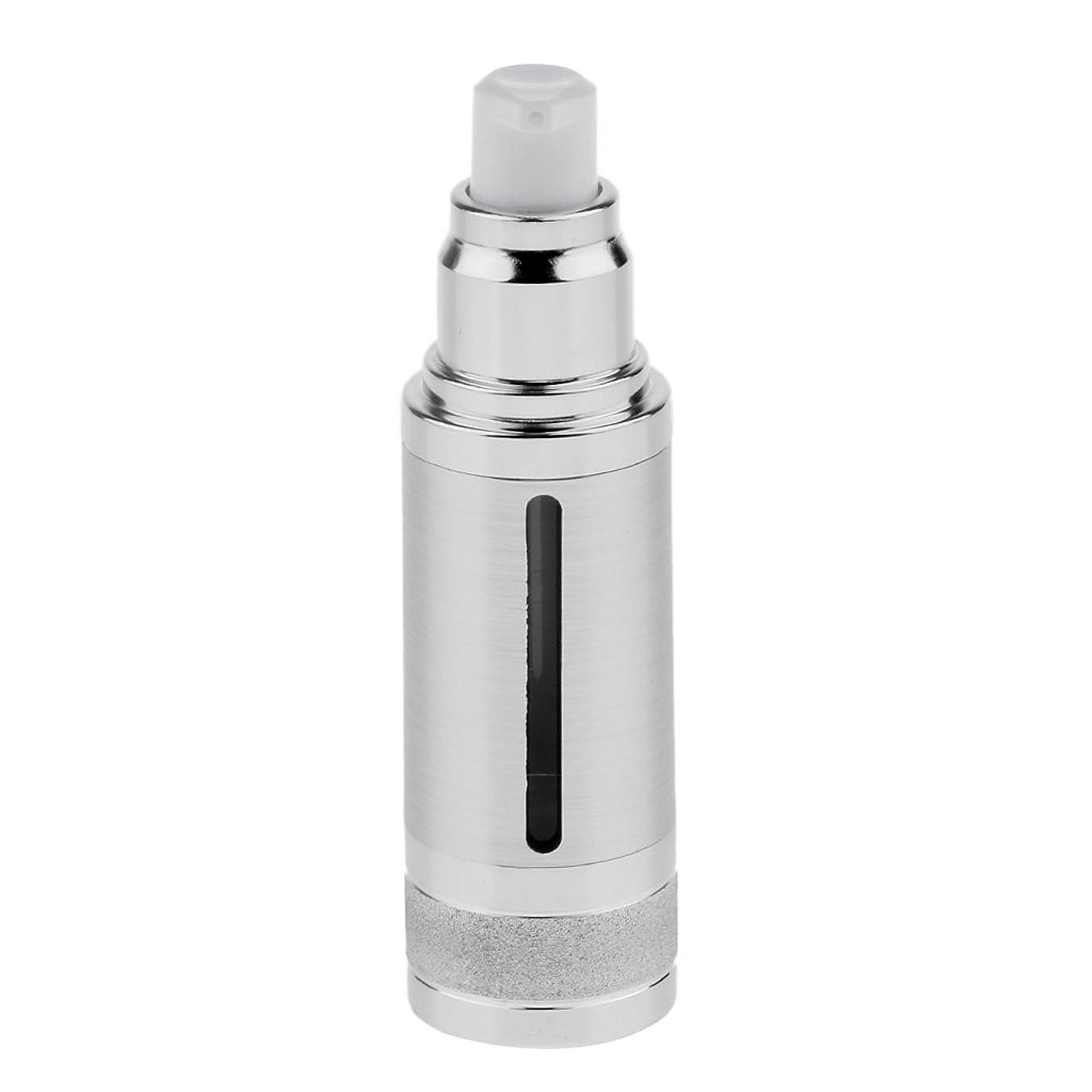 楽しむ信頼性のあるウェブPerfk ポンプボトル 空ボトル エアレスボトル 30ml 化粧品 コスメ 香水 オイル 詰替え 容器 DIY 2色選べる - 銀