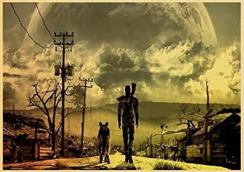 xiangpiaopiao Póster Retro De Nuka Cola Fallout 2345, Póster De Papel Vintage, Pintura De Pared, Decoración del Hogar, Arte De Pared 40X50Cm Lj-69
