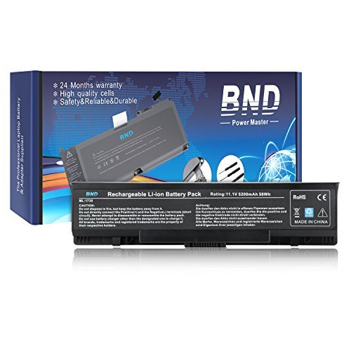 BND Laptop Battery for Dell Studio 17 1737 1735 1736 PP31L, fits P/N KM973 RM791 PW823-24 Months Warranty [6-Cell Li-ion 5200mAh/58Wh]