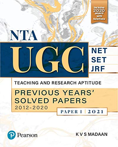NTA UGC NET/SET/JRF: Teaching and Research Aptitude,Previous Years' 2021 | Second Edition | By Pearson