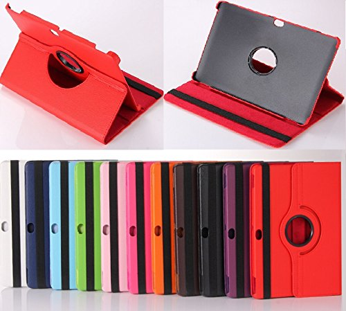 windykids dtab d-01H ケース Huawei互換 MediaPad M2 10.0 カバー 赤 スタンドケース 360度回転式 スタンド docomo d01h メディアパッド d-01h(Huawei互換-m2-10)(1case) d-01h(Huawei互換-m2-10),赤(1case)