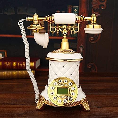 TAIDENG Teléfono Antiguo Teléfono Estilo Europeo Decoración Teléfono Antiguo Sala de Estar Teléfono Retro Teléfono Dial Fijo Dial fijo-18x25x27