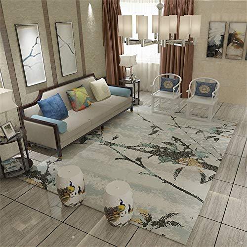 Huisdecoratie Nordic Style Area Rug voor Living Dinning Room & Bedroom Moderne slaapbank bijzettafel tapijt met abstracte kunst boom patroon (grootte: 160 × 230 cm) vloermat uit de regio 120×160cm