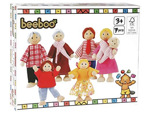 Spielmaus Holz Puppenhaus Famlie