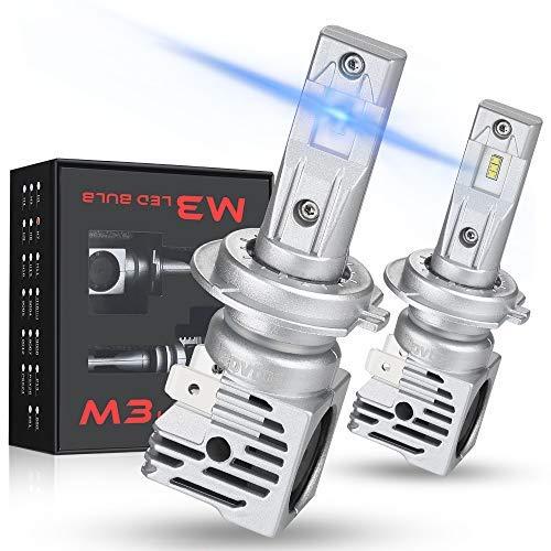 Rovtop 2PCS Ampoule H7 LED Voiture Ampoules IP68 Etanche 10000LM Super Bright 6000K lumière Blanche Ampoules