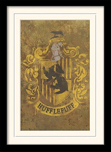 Harry Potter 1art1 Escudo De Hufflepuff Póster De Colección Enmarcado (40 x 30cm)