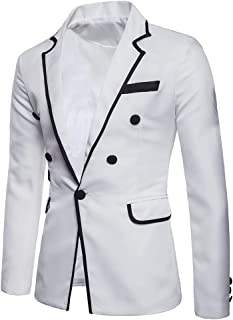 f9b5e61ebf1 Charm Men s Casual One Button Fit Suit Blazer Coat Jacket Pineapple Printed  Top