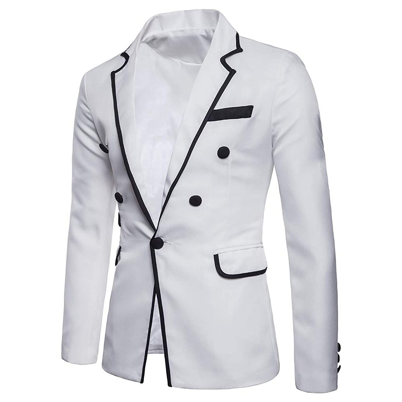 Suit for Men's Casual One Button Fit Suit Blazer Coat Jacket Top Tuxedo Party,Wedding,Banquet,Prom
