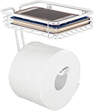 mDesign porte papier de toilette avec surface de rangement – distributeur de papier WC en métal – dérouleur de papier toil...