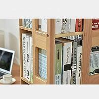 ブックシェルフモダンミニマリストソリッドウッドクリエイティブフロアスタンド回転ブックシェルフラック-4色あり (色:B)