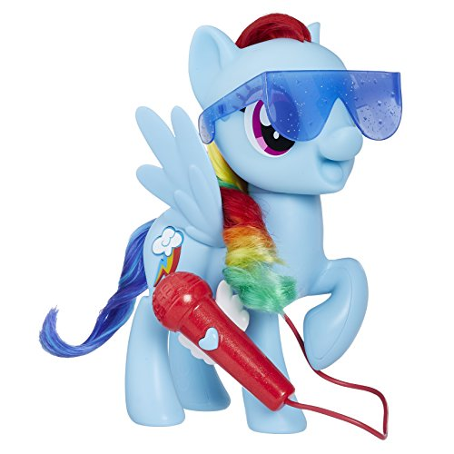 Hasbro E1975100 - Großartig singende Rainbow Dash Puppe, mit Sprach- und Soundfunktion