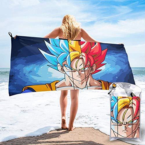 Toalla de playa Toalla de baño Anime Dragon Ball Super Goku Toalla de playa Toallas de baño Secado rápido Viajes Playa Camping Yoga Gimnasio Piscina Toallas de baño Toalla 27.5 x 55 pulgadas