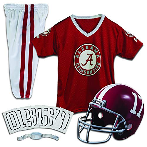 Franklin Sports NCAA Alabama Crimson Tide Kids College Football Uniform Set - Youth Uniform Set - Includes Jersey, Helmet, Pants - Youth Medium