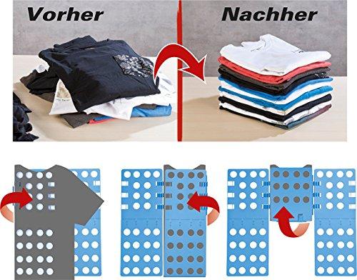 PEARL Wäschefaltbrett: Wäsche-Faltbrett für Hemden & Co, 68 x 57 cm, blau, klappbar (Wäschefalter)