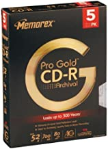 Memorex 80 min./700MB 52x Pro Gold Archival CDR (5 Pack)