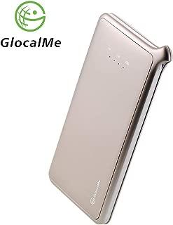 GlocalMe U2 モバイル Wi-Fi ルーター 1.1ギガ分のグローバルデータパック付け 高速4G LTE ポケットwifi simフリー 世界140国・地区以上対応 フリーローミング 国内・海外旅行最適 iPhone・Xperia・HTC・Galaxy・iPadなど全機種対応 超軽くて携帯便利 (ゴールド)