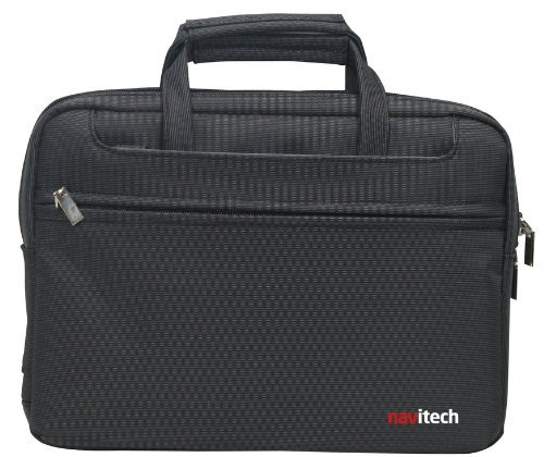 Navitech Black Sleek Premium Water Resistant Shock Absorbent 13.1 to 15.4 Laptop/Notebook Carry Bag Case Compatible with The Panasonic Toughbook CF-31JEGAX1M
