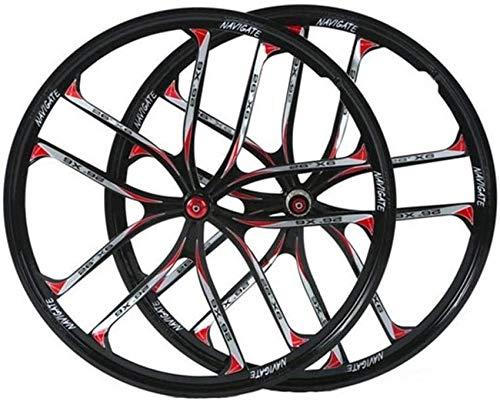 Ruedas de bicicleta MTB de 26 pulgadas, aleación de magnesio, doble pared, freno de disco de liberación rápida, híbrido/disco de montaña, 8 9 10, ruedas delanteras y traseras de bicicleta de 11 vel
