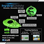 Extreme sport outfitters hydrokaddy 8 extra storage for your paddling adventure keeps personal items dry and safe- yet convenient- while you are on the water. For example, coolers, food, beverages, smartphones, tablets, jewelry, car keys, medication, first aid kits, sleeping bag, tent, etc. Easy access design to keep everything at your fingertips