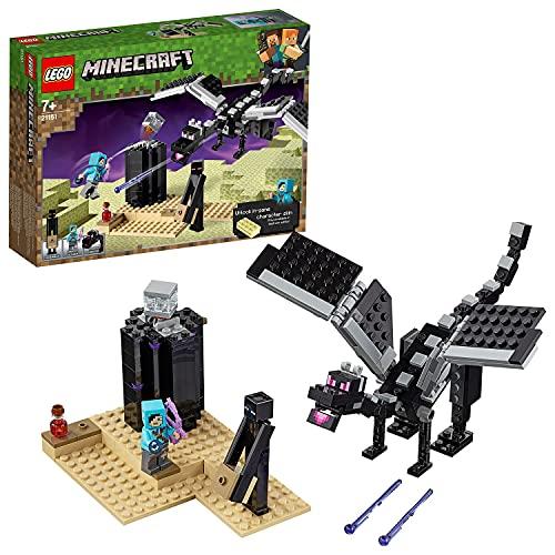 LEGO 21151 Minecraft La Batalla en el End Juguete de Construcción con Dragón Ender y Mini Figura de Enderman