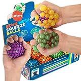 KELZ KIDZ Quality & Durable Medium (2.5 Inch) Spiky Mesh Squishy Balls with Exclusive Sewn Mesh! (Multi, 12 Pack)
