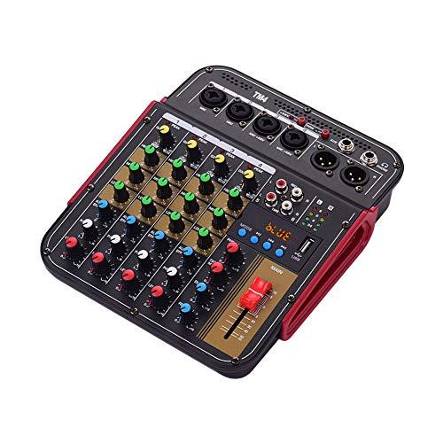 Weiming Digitale 4-Kanal-Audio-Mixer-Mischkonsole Integrierte Phantomspeisung mit Audiosystem für Studioaufnahmen