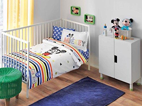 TAÇ Parure de lit Bébé 4 pièces Mickey Disney