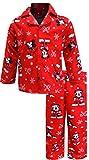 Disney Boys Mickey Mouse Christmas Flannel Toddler Pajamas (3T)