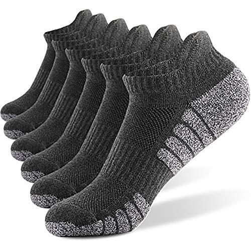 BOZZA 6 Pares de Calcetines Bajos para Hombres y Mujeres, Material de algodón Transpirable y Absorbente de Sudor, se Pueden Usar en Todas Las Estaciones