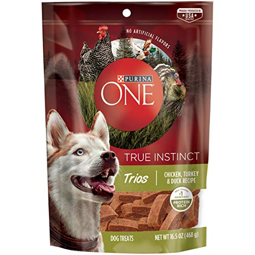 Purina ONE Made in USA Facilities Dog Treats, True Instinct Trios Chicken, Turkey & Duck Recipe - 16.5 oz. Pouch