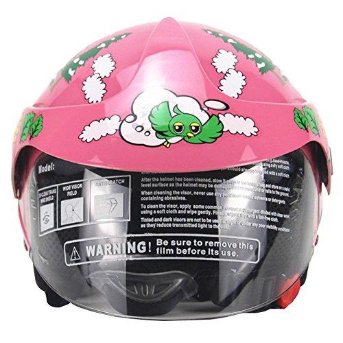juman634 Casco para niños Motocicleta Cuatro Estaciones Personalidad