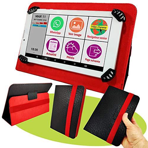 avis tablette pour senior professionnel Mobiho Essentiel – Tablette INITIALE 7P avec pochette rouge, tout ce dont vous avez besoin pour bien démarrer…