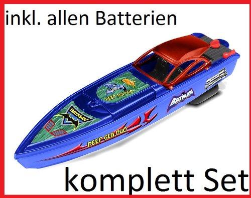 RC ferngesteuertes Speedboot / Rennboot - Batman - Lizenz-Ware - komplett Set ! inkl. Fernbedienung und Batterien sofort startklar
