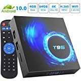 Android TV Box, Android 10.0 TV Box 4GB RAM 64GB ROM Allwinner H616 Quad-Core 64bit,Smart TV Box Soporte 2.4G/5GHz WiFi 6K / 4K Ultra HD / 3D / H.265 Android Box