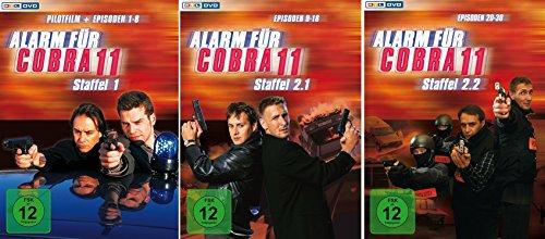 Alarm für Cobra 11 - Staffel 1+2.1+2.2 im Set - Deutsche Originalware [9 DVDs]