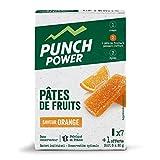 PUNCH POWER - Pâtes de Fruits - Orange - 8 pâtes de fruits x 30g - Glucides à assimilation rapide - Energie - Marque Française