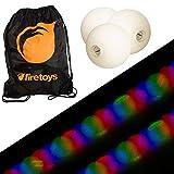 Glow Jonglierball Set – 3 x Stroboskop-LED...
