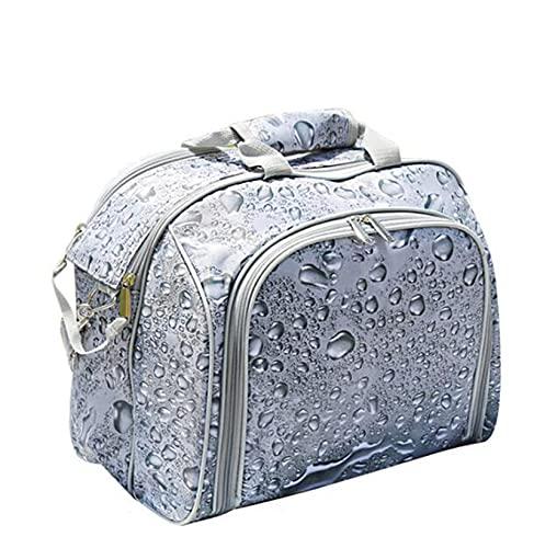 FBKPHSS Portatile Zaino da Picnic, Impermeabile Zaino da Picnic con Posate per 4 Persone Isolamento e refrigerazione 2 in 1 Borsa Picnic per Esterno Picnic Festa