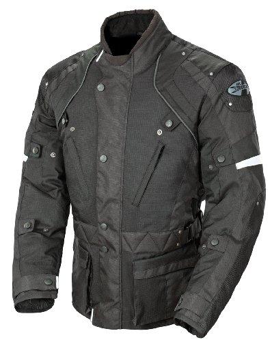 Joe Rocket Ballistic Revolution Men's Textile Riding Jacket (Black/Grey, X-Large)