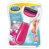 Scholl Velvet Smooth Roll Pedicure Elettrico Professionale per Pelle Secca, Azzurro