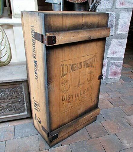 Unbekannt FRACHTKISTE Dublin Whisky KISTE Vintage MINIBAR BAR BARSCHRANK Holz 74cm H.