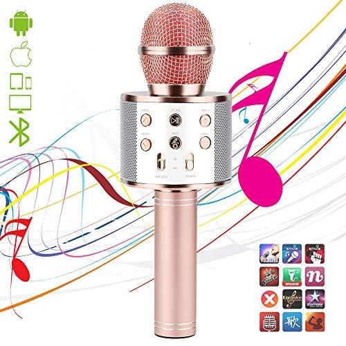 Wireless Karaoke Microphone,Bluetooth Karaoke Microphone 4-in-1 Handheld...