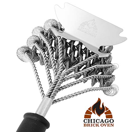 Bristle Free 5-in-1 BBQ Grill Brush Scraper Cleaner Set - Grill Accessories Tool - Best Barbecue Brush for Cleaning Weber Gas/Charcoal, Cast Iron, Portable, Indoor, Propane, Camping, Kamado Grills
