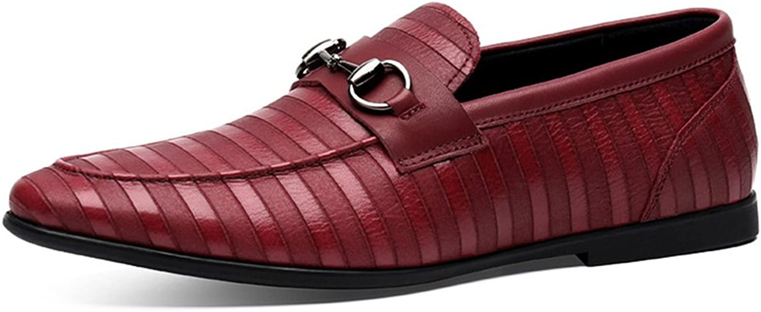 Summer Men Casual Leather shoes Male Leather shoes British Style Lounger Men's shoes