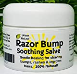 Urban ReLeaf RAZOR BUMP Soothing Salve! 1 oz. Quickly soothe bumps, rashes, ingrown hairs & razor burn. 100% Natural, Vegan. Pure Shea, Tea Tree, Lemon Balm. For face, neck, bikini, body!