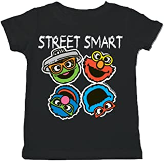 Sesame Street Smart Heads Toddler Black T-Shirt