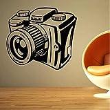 Cámara pared calcomanía foto pared pegatina fotógrafos regalos para estudio fotográfico decoración vinilo extraíble foto pared arte decoración...