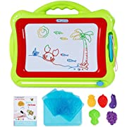 SGILE Magnetic Drawing Board, Doodle Board Drawing Writing Sketching Pad for Toddlers Kids, Green